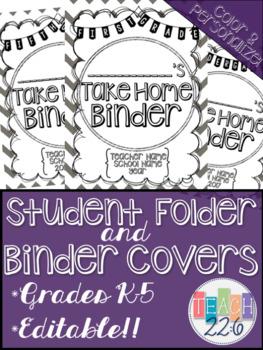 Student Take Home Folder & Binder Covers - Chevron