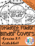 Student Take Home Folder & Binder Covers - Paw Prints