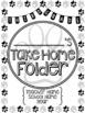Student Take Home Folder & Binder Covers - Paw Prints