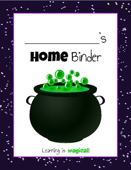 Student Take Home Binder (Harry Potter Version)