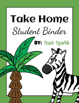 Student Take Home Binders (Jungle Version)