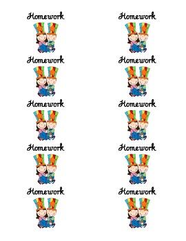 Student Take Home Folder Labels Circus Theme