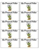 Student Take Home Folder Labels - Frog Theme