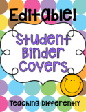 Student Binder & Folder Covers (Groovy Theme) - Editable!