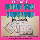 Student Task Checklist-Editable