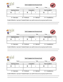 Student Task Engagement Assessment
