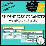 Teal Slide Templates for Distance Learning