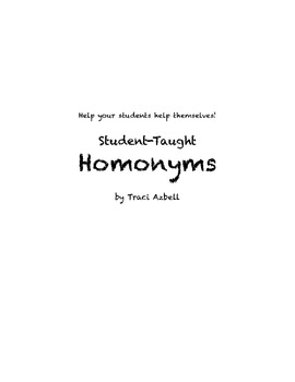 Student-Taught Homonym Project for Junior High and High School