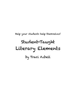 Student-Taught Literary Element Project for Junior High an