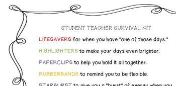 Student Teacher Beginning Poem, Scavenger Hunt, and Timeline
