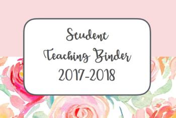 Student Teacher Binder Cover 2017-2018