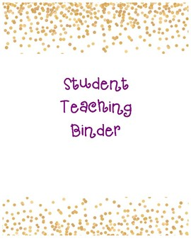 Student Teacher Binder Cover