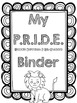 Student & Teacher Binder Covers - Black, White & Grey {{LO