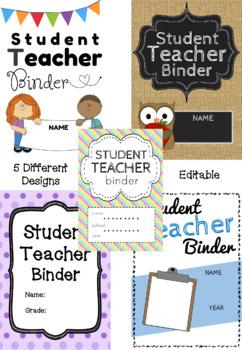 Student Teacher Binder - Editable or Print As Is