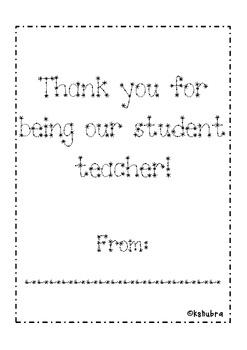 Student Teacher Book