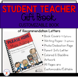 Student Teacher Book of Recommendation Letters- Editable