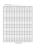 Student Teacher Classroom Roster/Attendance Log