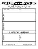 Student-Teacher Conference Form