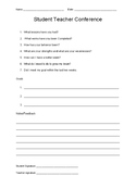 Student/Teacher Conference form