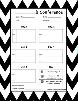 Student-Teacher Conference on a Unit