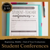 Student-Teacher Conferences: Grades 5-12 DIGITAL INCLUDED