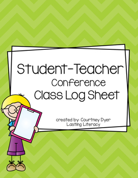 Teacher Conferring Notebook Class Log
