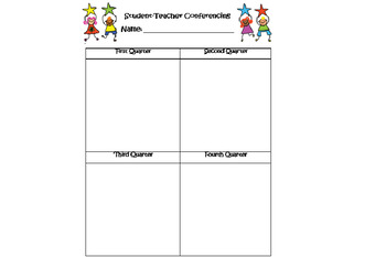 Teacher Conferencing Sheet