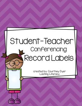 Teacher Conferring Notebook Sticky Labels