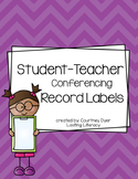 Teacher Conferring Notebook Sticky Labels