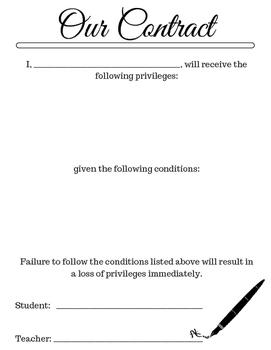 Student & Teacher Contract