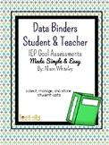 Student & Teacher Data Binder: Progress Monitoring Made Simple & Easy