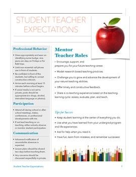 Student Teacher Expectations - PDF
