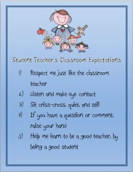 Student Teacher's Classroom Expectations Poster