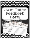 Student Teacher Feedback Form
