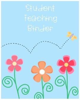Student Teacher Flower Binder Cover