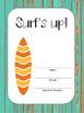 Student/Teacher Folder or Binder Covers in Boardwalk & Surfing Theme