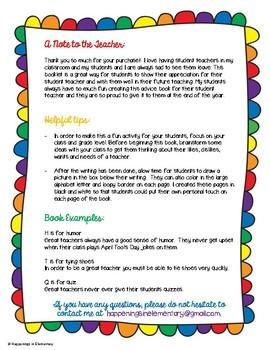 Student Teacher Goodbye, Advice Book