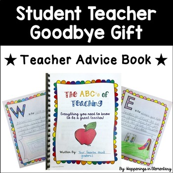 Student Teacher Goodbye Worksheets Teaching Resources Tpt