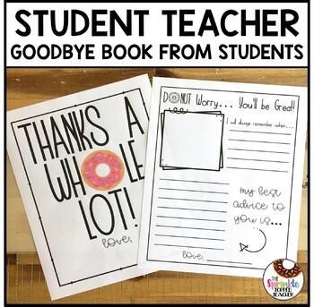 Student Teacher Goodbye Gift | Donut Memory Book