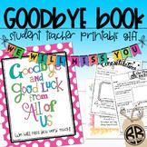 Student Teacher Goodbye Gift! Thank You Memory Advice Book