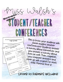 Student Teacher Growth Mindset Goal Conferences!