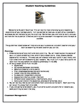 Student Teacher Guidelines