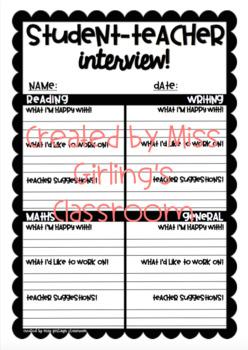 Student-Teacher Interview Sheet