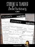 Student & Teacher Interviews for Fluency