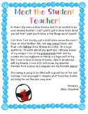 Student Teacher Introduction Letter