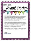 Editable Student Teacher Introduction Letter to Parents