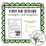 Student Teacher Introduction Letter: Meet the teacher