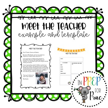 letter template meet the teacher examples  Student Teacher Introduction Letter: Meet the teacher by In ...