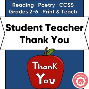 Student Teacher Thank You And Keepsake: The Important Book