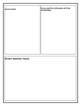 Student Teacher Lesson Plan - Editable